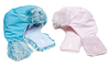 ID 3307924 | Two winter baby fur hats, rose and blue | High resolution stock photo | CLIPARTO