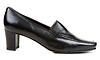 Black leather one loafer   Stock Foto
