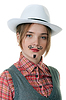 Photo 300 DPI: girl with painted mustaches