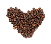 Beans ulodennye in shape of heart | Stock Foto