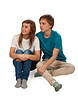 ID 3336099   Boy and girl sitting on floor   High resolution stock photo   CLIPARTO