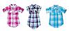 Trzy koszula w kratę | Stock Foto