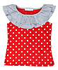 Photo 300 DPI: red baby clothes with polka dots