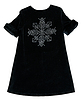 Black baby dress with sequins | Stock Foto