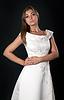 Beautiful girl in white wedding dress | Stock Foto