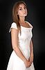 Beautiful girl in wedding dress | Stock Foto