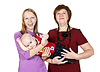 Photo 300 DPI: happy family mother, grandmother and young boy