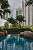 ID 3339151 | Swimming pool with views of skyscrapers | High resolution stock photo | CLIPARTO