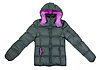 ID 3339293 | Female gray winter jacket with hood | High resolution stock photo | CLIPARTO
