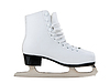 Photo 300 DPI: White skates for figure skating