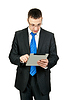 ID 3339509 | Businessman with tablet computer | High resolution stock photo | CLIPARTO