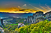 Monasteries on the rocks, Meteora, Greece | Stock Foto