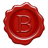 Wax seal with letter B | Stock Illustration