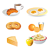 Breakfast icon set