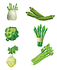 Vector clipart: Set of green vegetables