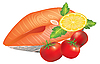 Vector clipart: Salmon Steak
