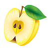 Vector clipart: yellow apple