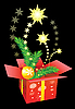 Vector clipart: Christmas gift box