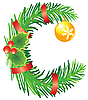 Vector clipart: Christmas letter C made of fir branches