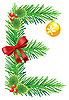 Vector clipart: Christmas letter E made of fir branches
