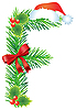 Vector clipart: Christmas letter F made of fir branches