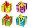 Vector clipart: Gift boxes