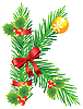 Vector clipart: Christmas letter K made of fir branches