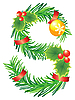 Vector clipart: Christmas letter S made of fir branches