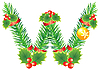 Vector clipart: Christmas letter A made of fir branches
