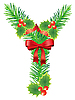 Vector clipart: Christmas letter Y made of fir branches