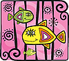 Vector clipart: Decorative fishes