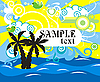 Vector clipart: tropic sea and palm trees