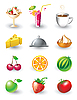 Vector clipart: Set of food icons