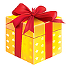 Vector clipart: yellow gift box