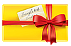 Vector clipart: Gift with card