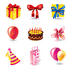 Vector clipart: birthday and holyday set