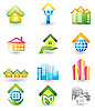 Real Estate - Icons Set | Stock Vector Graphics