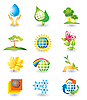 Set of nature icons | Stock Vector Graphics