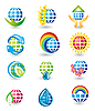 Vector clipart: Set of globe design icons