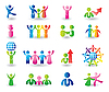Set of people icons | Stock Vector Graphics