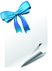 Vector clipart: Page with bow