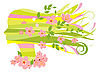 Vector clipart: Spring woman