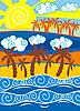 Vector clipart: tropical beach