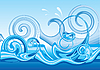 Vector clipart: Stylised wave design