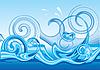 Векторный клипарт: Стилизованный дизайн с волнами