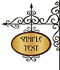 Vector clipart: wrought iron sign