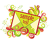 Vector clipart: envelope with swirls