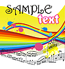 Vector clipart: Background with musical notes
