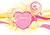 Vector clipart: heart with swirls