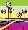 Векторный клипарт: Абстрактные цветы